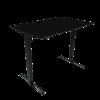 ConSet hæve-sænke bord 120x80cm sort, sort stel