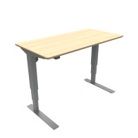 ConSet hæve-sænke bord 120x60cm ahorn, alu stel