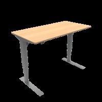 ConSet hæve-sænke bord 120x60cm bøg, alu stel