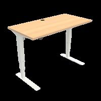 ConSet 501-37 hæve-sænke bord 120x60cm bøg med hvidt stel
