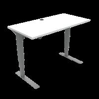 ConSet 501-37 hæve-sænke bord 120x60cm hvid med sølv stel
