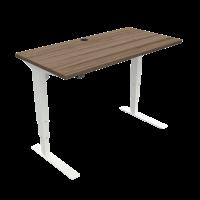 ConSet 501-37 hæve-sænke bord 120x60cm valnød med hvidt stel