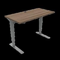 ConSet 501-37 hæve-sænke bord 120x60cm valnød med sølv stel