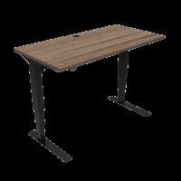 ConSet hæve-sænke bord 120x60cm valnød med sort stel