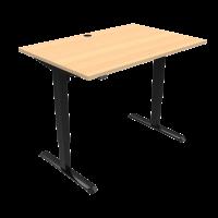 ConSet 501-33 hæve-sænke bord 120x80cm bøg med sort stel