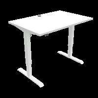 ConSet hæve-sænke bord 120x80cm hvid med hvidt stel