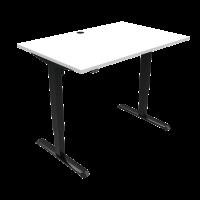 ConSet 501-33 hæve-sænke bord 120x80cm hvid med sort stel