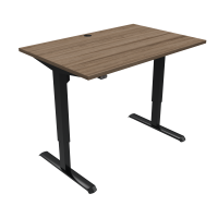 ConSet hæve-sænke bord 120x80cm valnød med sort stel