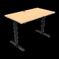 ConSet 501-33 hæve-sænke bord 140x80cm bøg med sort stel