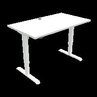 ConSet hæve-sænke bord 140x80cm hvid med hvidt stel