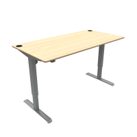 ConSet hæve-sænke bord 160x80cm ahorn, alu stel