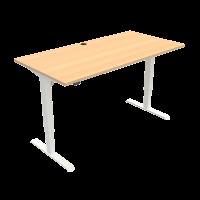 ConSet 501-33 hæve-sænke bord 160x80cm bøg med hvidt stel