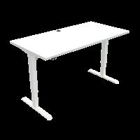 ConSet 501-33 hæve-sænke bord 160x80cm hvid med hvidt stel