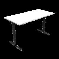 ConSet 501-33 hæve-sænke bord 160x80cm hvid med sort stel
