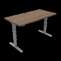 ConSet 501-33 hæve-sænke bord 160x80cm valnød med sølv stel