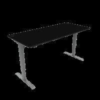 ConSet hæve-sænke bord 180x80cm sort, alu stel
