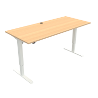 ConSet 501-33 hæve-sænke bord 180x80cm bøg med hvidt stel