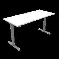 ConSet 501-33 hæve-sænke bord 180x80cm hvid med sølv stel