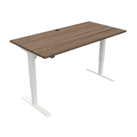 ConSet 501-33 hæve-sænke bord 180x80cm valnød med hvidt stel
