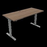 ConSet 501-33 hæve-sænke bord 180x80cm valnød med sølv stel