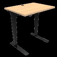 ConSet 501-37 hæve-sænke bord 80x60cm bøg med sort stel