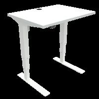 ConSet hæve-sænke bord 80x60cm hvid med hvidt stel