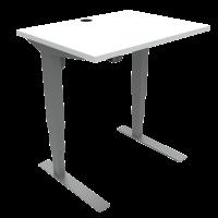 ConSet hæve-sænke bord 80x60cm hvid med sølv stel