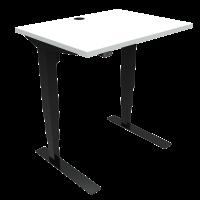 ConSet 501-37 hæve-sænke bord 80x60cm hvid med sort stel