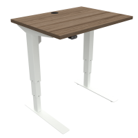 ConSet 501-37 hæve-sænke bord 80x60cm valnød med hvidt stel