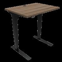ConSet 501-37 hæve-sænke bord 80x60cm valnød med sort stel