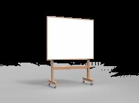 Lintex Wood mobil whiteboard med træ ramme 150x120cm