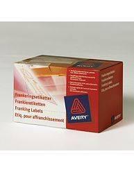 Avery 43-066 frankeringsetiketter 45x160mm dobbelt