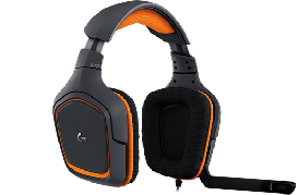 Logitech G231 Prodigy Gaming Headset sort-orange
