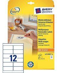 Avery aftagelige etiketter L4743REV-25, 99,1x42,3mm
