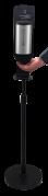 Caremex Touchfree hånddispenser på sort gulvstander