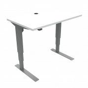 ConSet 501-37 hæve-sænke bord 100x60cm hvid med sølv stel