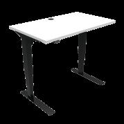 ConSet 501-37 hæve-sænke bord 100x60cm hvid med sort stel