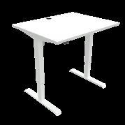ConSet 501-33 hæve-sænke bord 100x80cm hvid med hvidt stel