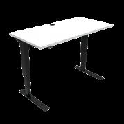 ConSet 501-37 hæve-sænke bord 120x60cm hvid med sort stel