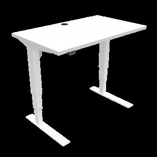 ConSet 501-37 hæve-sænke bord 100x60cm hvid med hvidt stel