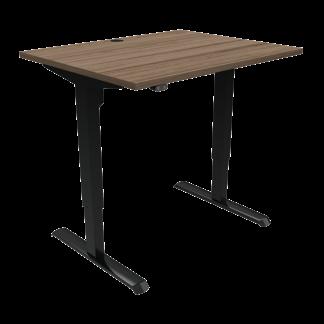 ConSet 501-33 hæve-sænke bord 100x80cm valnød med sort stel