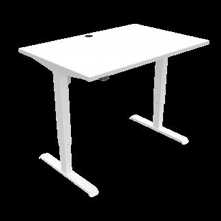ConSet 501-33 hæve-sænke bord 120x80cm hvid med hvidt stel