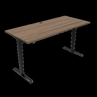 ConSet 501-33 hæve-sænke bord 180x80cm valnød med sort stel