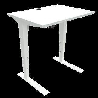 ConSet 501-37 hæve-sænke bord 80x60cm hvid med hvidt stel